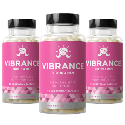 Vibrance Biotin and MSM Hair Growth Vitamins