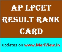 AP LPCET result rank card counselling