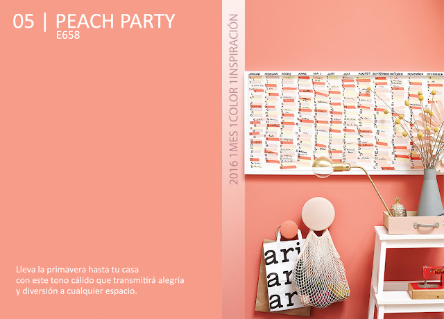 1 Mes 1 Color: Mayo es Peach Party