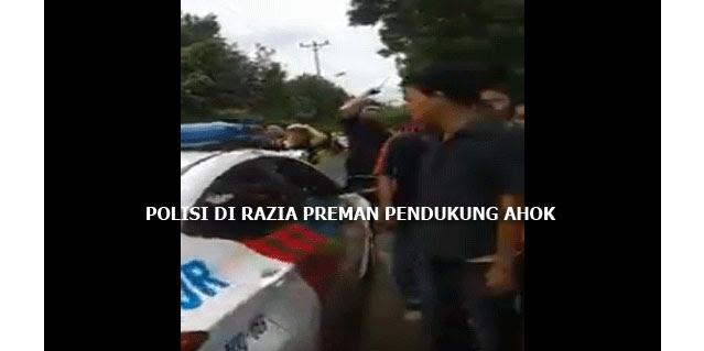 [VIDEO] Miris, Dimana Wibawa Aparat Negara Ini, lihat Polisi di Razia Oleh Preman Pro Ahok