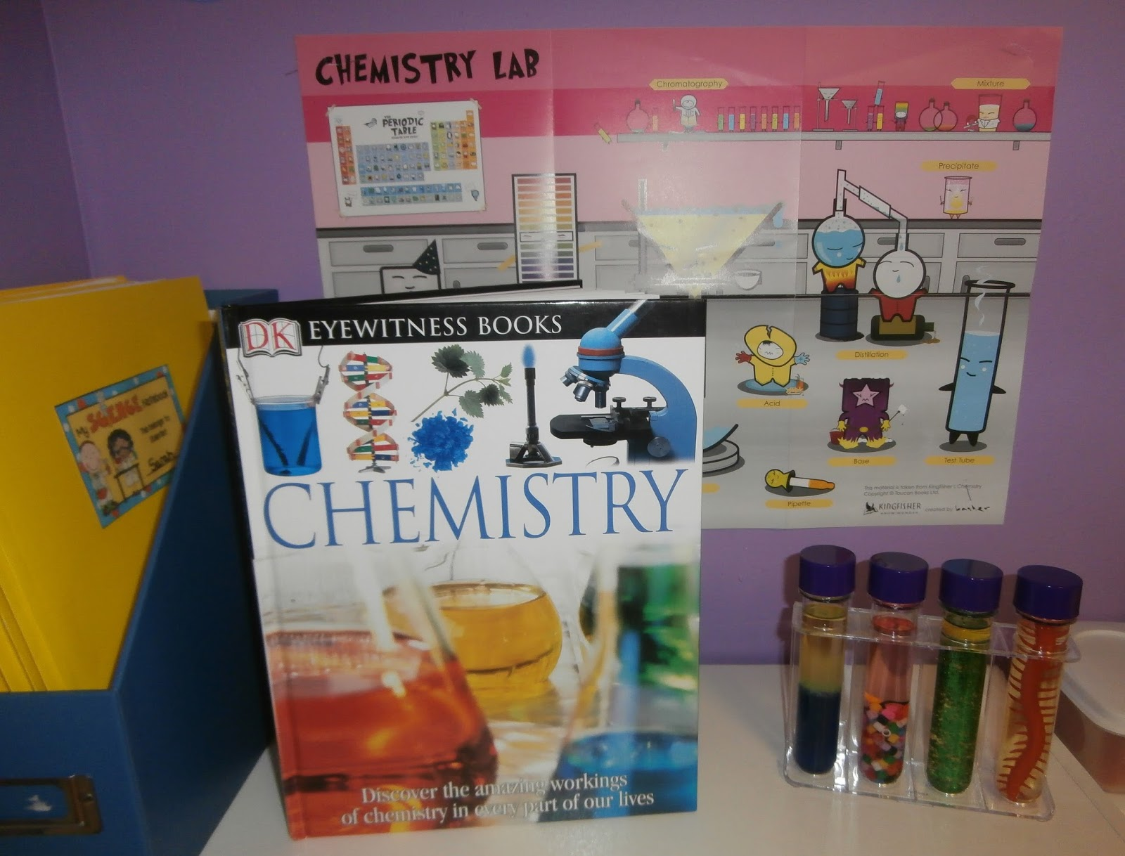 I love DK Eyewitness Books! This one is all about Chemistry and does a  great job explaining to the kids and me:) the different areas of chemistry.