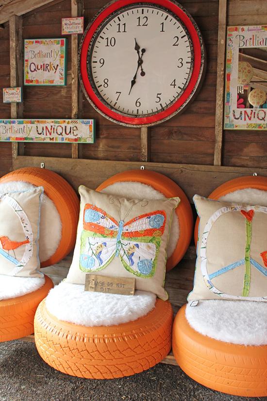 Desain kursi dari ban bekas
