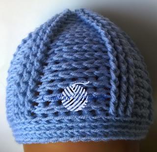 Cuffietta azzurra 100% lana merino