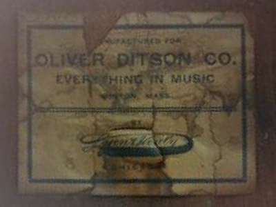 Late 1800s Ditson Bass Drum Label