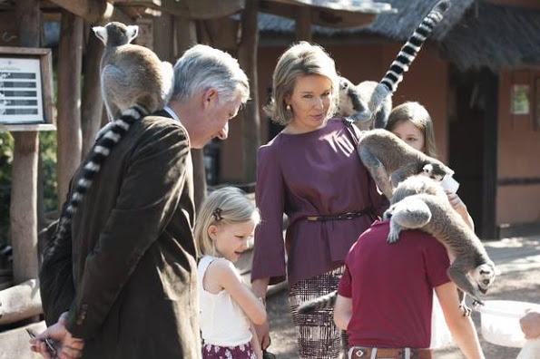 Queen Mathilde And King Philippe And Family Visited Pairi Daiza