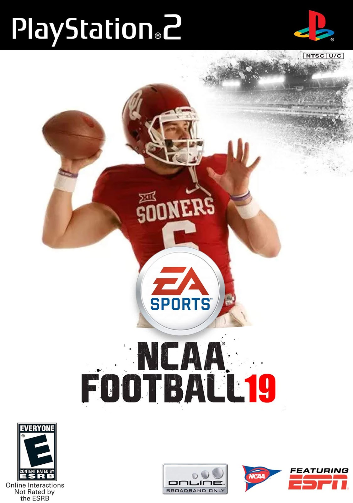 NCAA Football 19 for Playstation 2 and PSP is now available