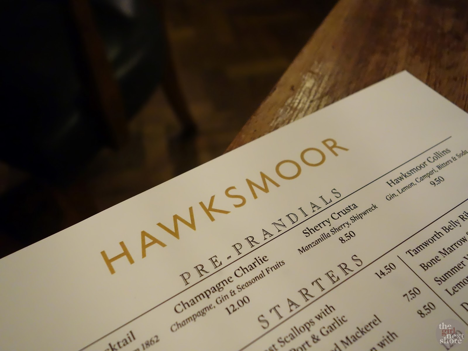 Hawksmoor Seven Dials: where Plaid Boy and I had a lunch date