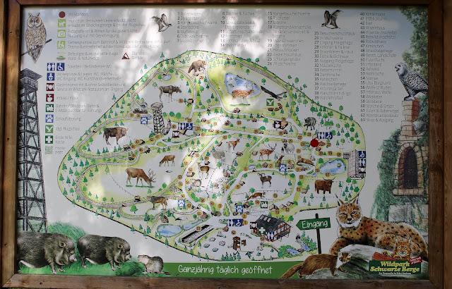 Parkplan Wildpark Schwarze Berge