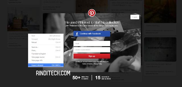 Cara Menghilangkan Fullscreen Signup yang Menghalangi Konten Website