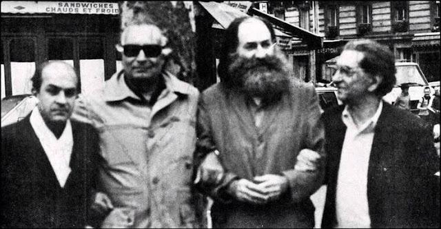 Alekos Fassianos, Yasar Kemal, Elias Petropoulos, Abidin Dino.  Paris 1977