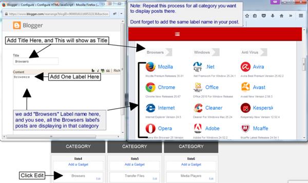 Cara Setting Category pada Bagian HomePage DonGrat Blogger Template