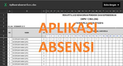 Aplikasi Absen Guru Excel Tahun Ajaran 2016/2017