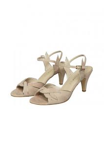 sandales en cuir détail dores collection mariage en vue naf naf 2019