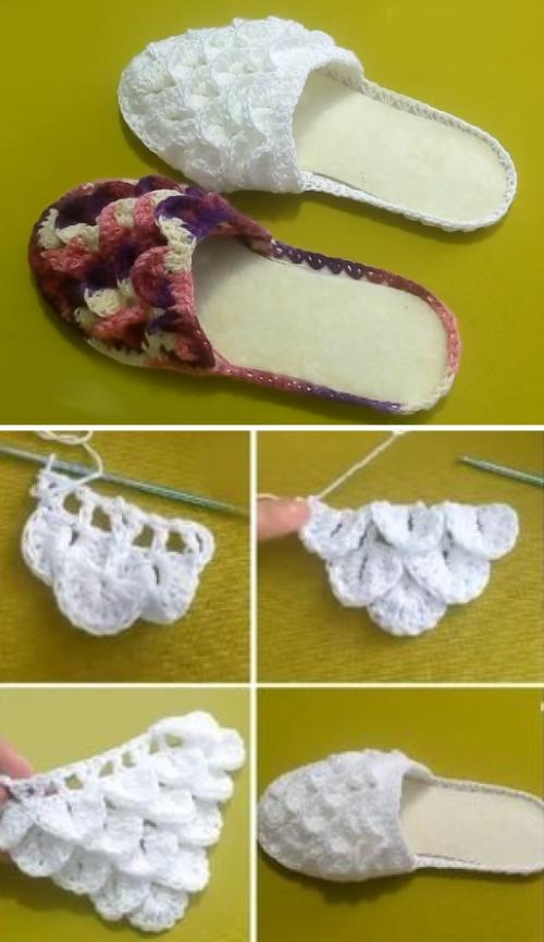 Crocodile Stitch Slippers - Tutorial