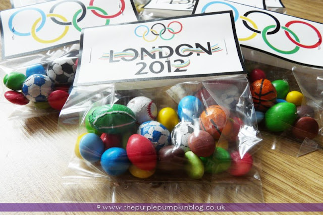 #Olympics Favor Bags at The Purple Pumpkin Blog