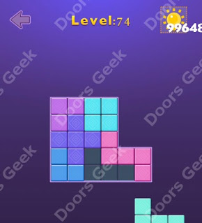 Cheats, Solutions, Walkthrough for Move Blocks Easy Level 74