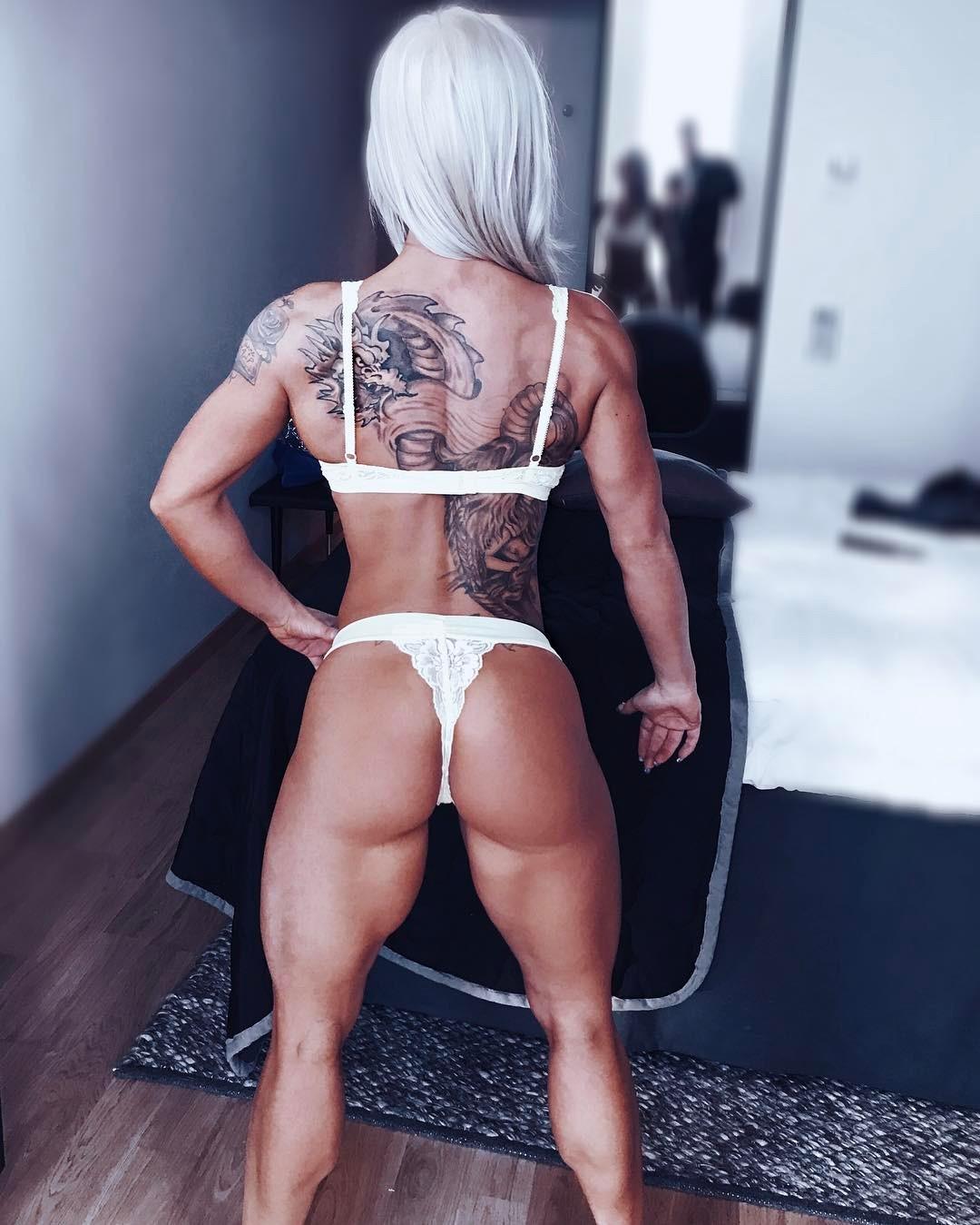tattoo IFBB Bikini Pro Caroline Aspenskog, Sweden