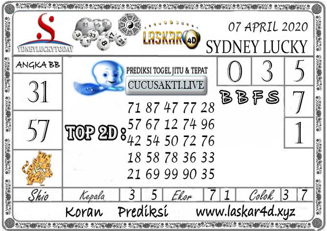 Prediksi Sydney Lucky Today LASKAR4D 07 APRIL 2020