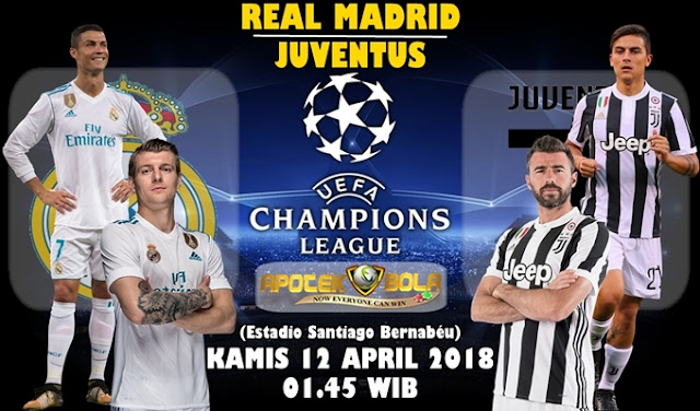 Prediksi Real Madrid vs Juventus 12 April 2018