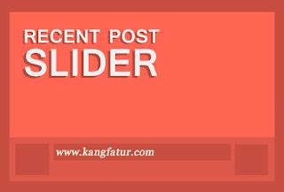 Resent Post Slider