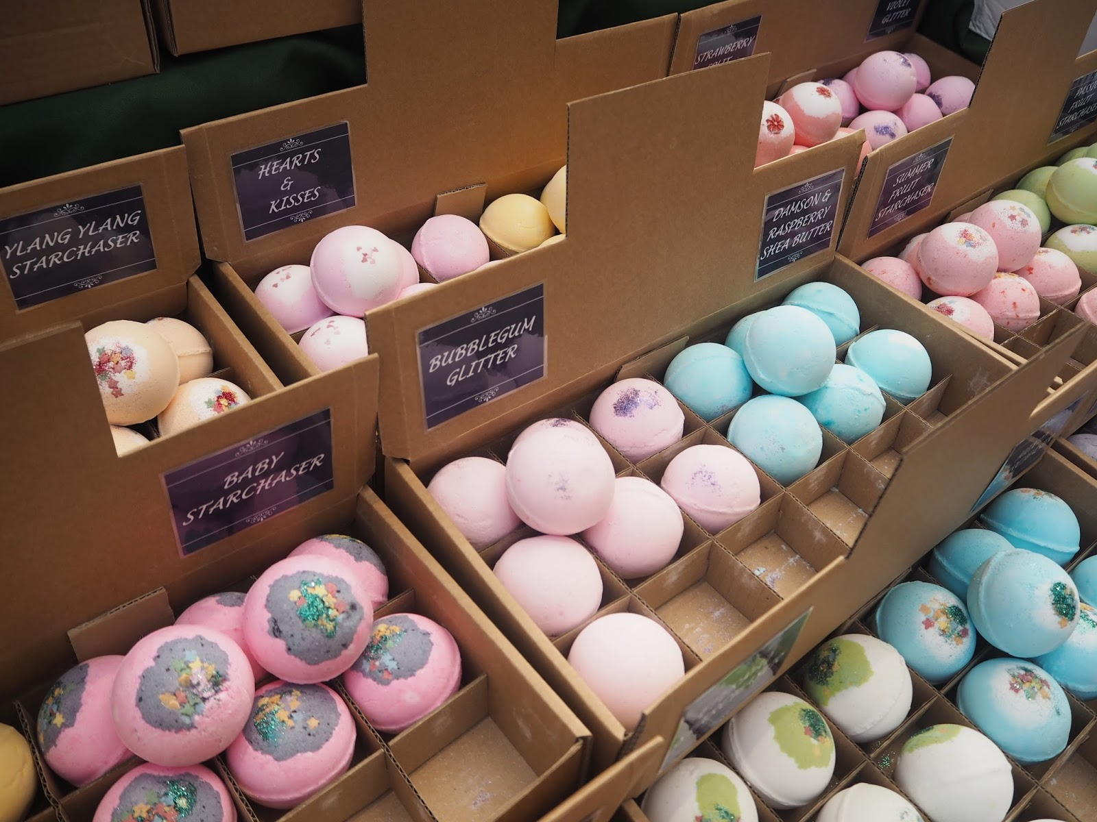 Bath bombs, Kendal shopping centre