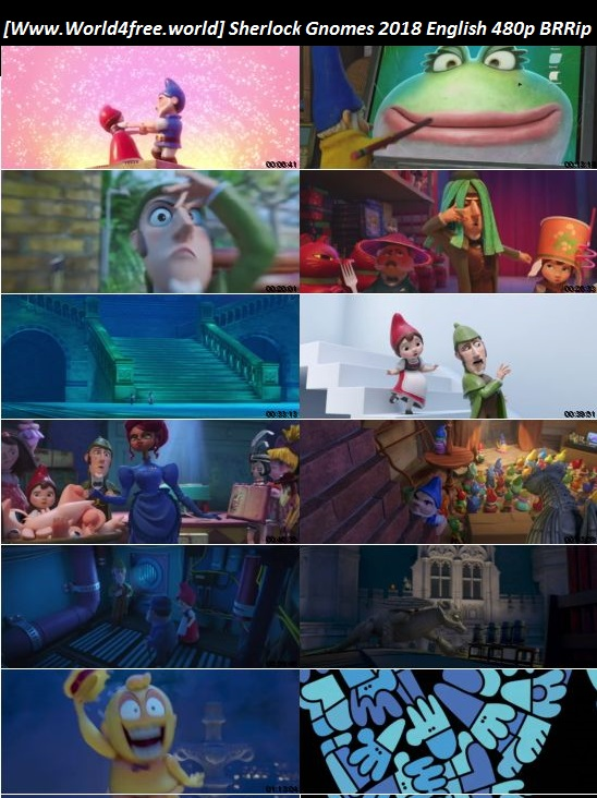 Screen shoot  of Sherlock Gnomes 2018 Full English 480p BRRip 250MB Download