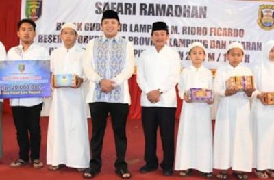 Safari Ramadhan, Walikota Herman Sambut Gubernur Ridho Ficardo