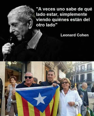 A veces, uno sabe de qué lado estar, simplemente viendo quiénes están del otro lado, Leonard Cohen