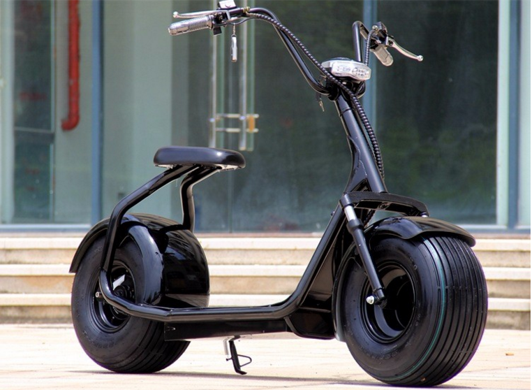 harley electric citycoco scooter fat tire e wheels 1000w. Black Bedroom Furniture Sets. Home Design Ideas