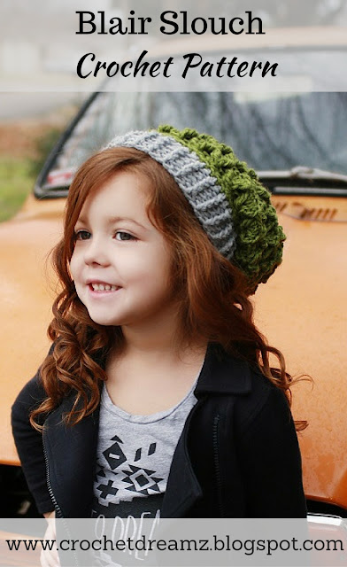 Crochet Slouch Hat Pattern in Multiple Sizes
