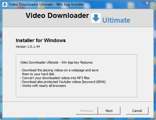 Video Downloader Ultimate 1.0.1.55 + Crack