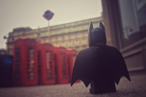 Batman visits a Telephone Booth