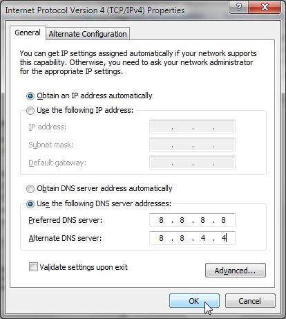 Daftar DNS Speedy Tercepat