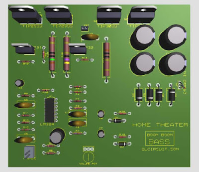 Component and PCB for Subwoofer Home Theater