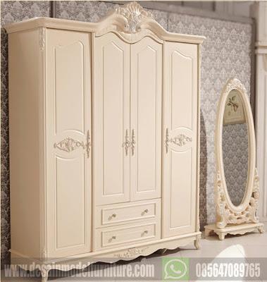 30 desain lemari pakaian dari kayu model terbaru