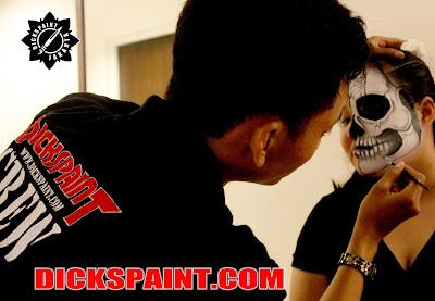 Make Up Horror Half skull Jakarta