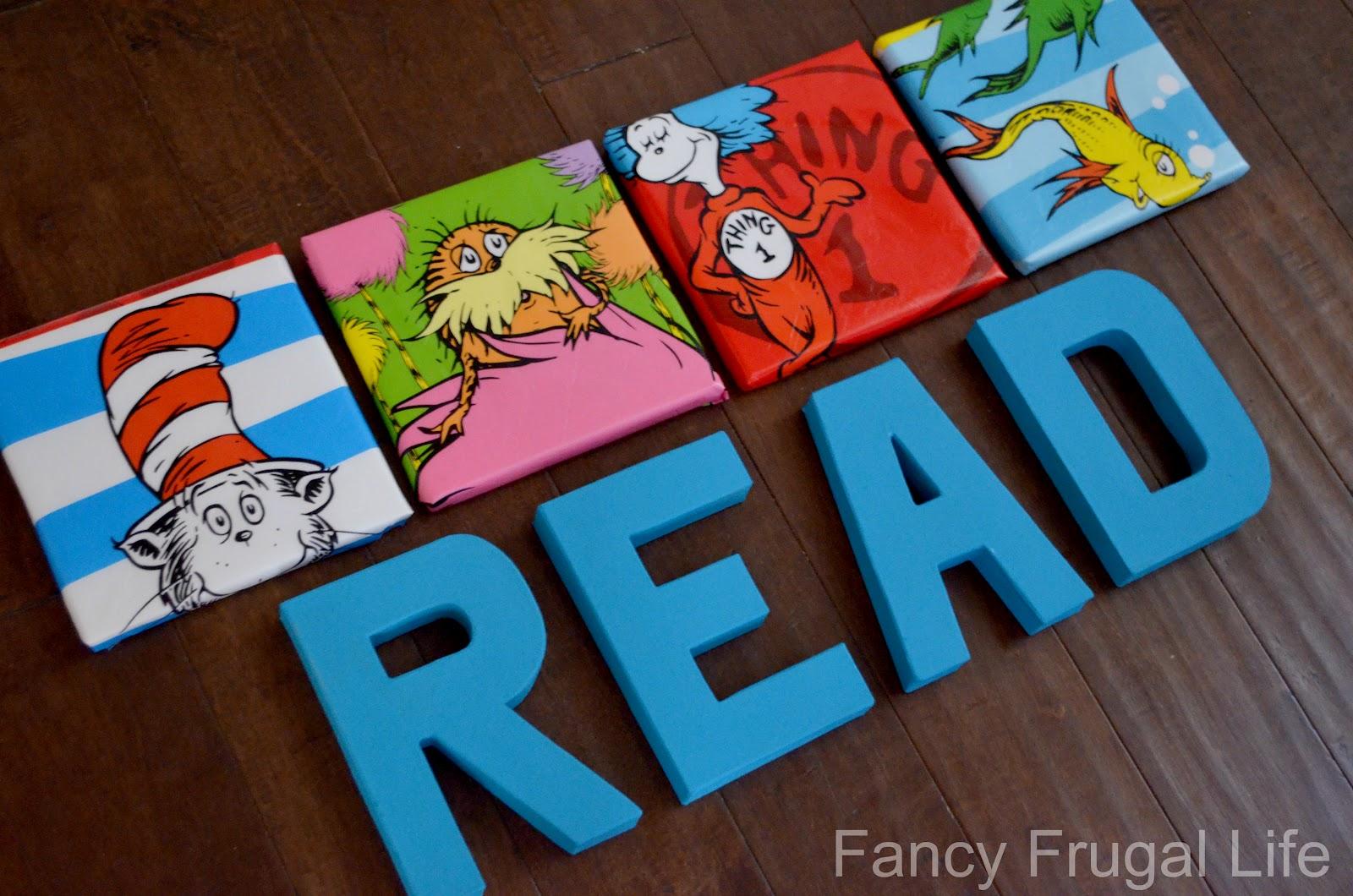 & $1 Bin Dr. Seuss Wall Art u0026 READ letters |