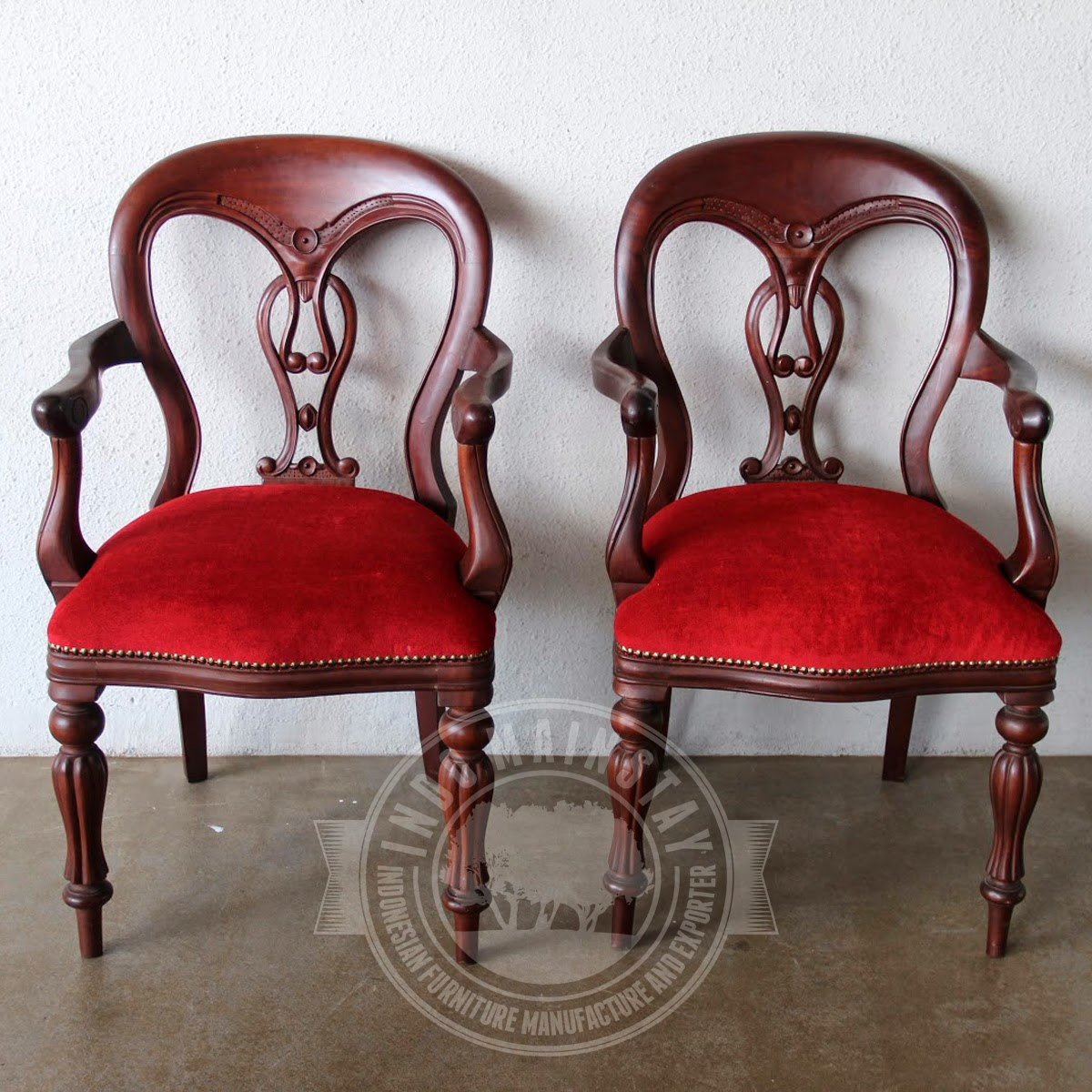 Reproduction Antique Fiddle Back Mahogany Dining Chair With Arm