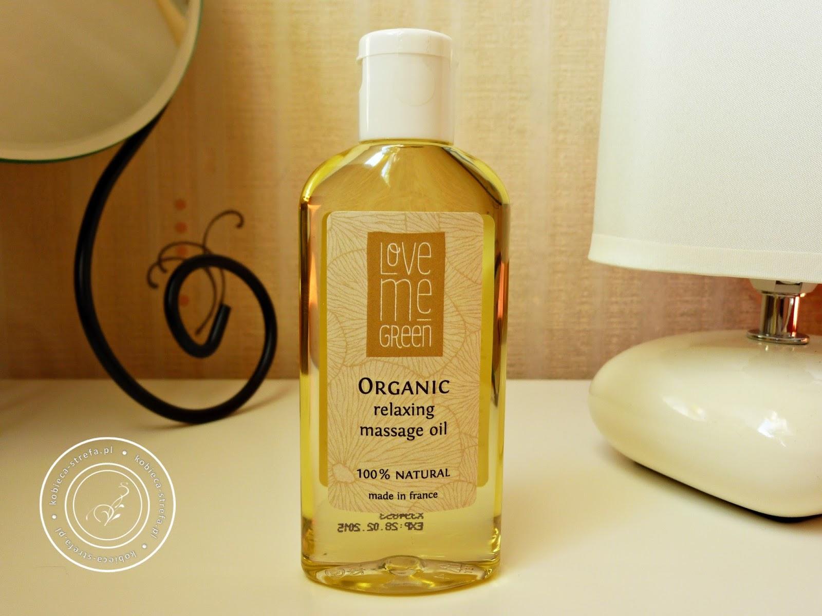 Olejowa moc! Czyli mały skarb z Love Me Green - organic - olej do masażu