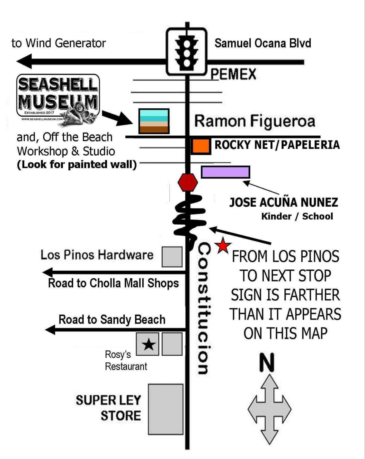 A map to the Museum