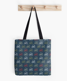 cartoon, bicycle, tote bag,