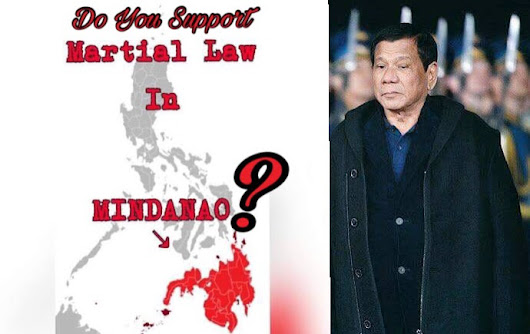 Do You Support President Rodrigo Duterte's Declaration of Martial Law in Mindanao