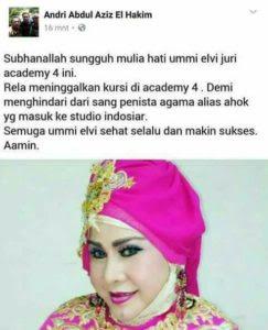 Juri D'Academy 4 Elvi Sukaesih, Tinggalkan Acara Ketika Ahok Masuk Studio Indosiar
