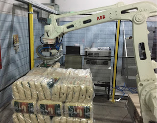 Pirinç torba otomatik paletleme robotu