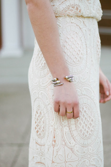 cartier love ring and david yurman cable cuff bracelets