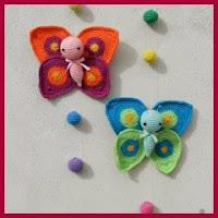 Preciosas mariposas amigurumis
