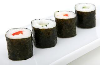 makanan untuk diet, rumput laut, sushi, nori