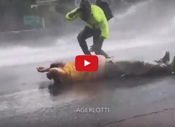 Carlos Paparoni herido durante manifestación del 29 de mayo