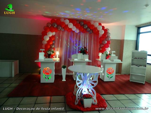 Decoração tema de Flores ou tema de Rosas para festa de aniversário feminino de adultos