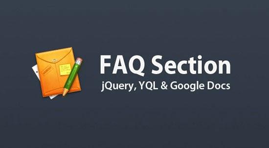 Dynamic FAQ Section w/ jQuery, YQL & Google Docs